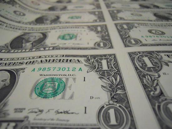 Picture of Неразрезанный  лист банкнот  США номиналом 1$ (8шт)