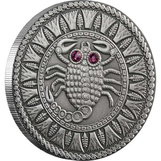 Picture of Срібна монета СКОРПІОН 2009 серії «Знаки Зодіака- Білорусь»