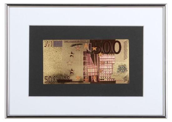 Picture of Позолоченная  банкнота в рамке 500 Евро