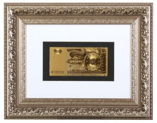 Picture of Позолоченная  банкнота в рамке 1.000.000 евро