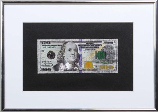 Picture of Посеребренная  банкнота в рамке 100 долларов