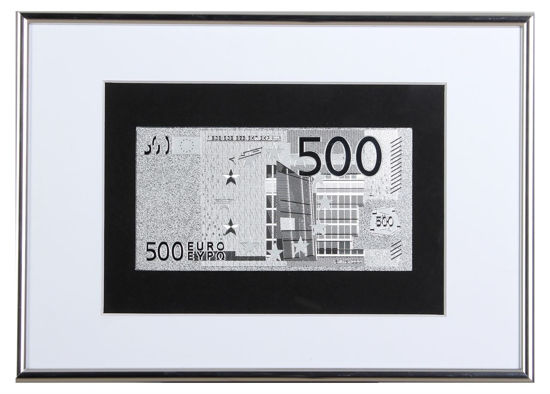 Picture of Посеребренная  банкнота в рамке 500 Евро