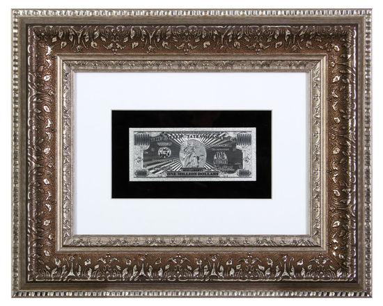 Picture of Посеребренная  банкнота в рамке 1.000.000 долларов