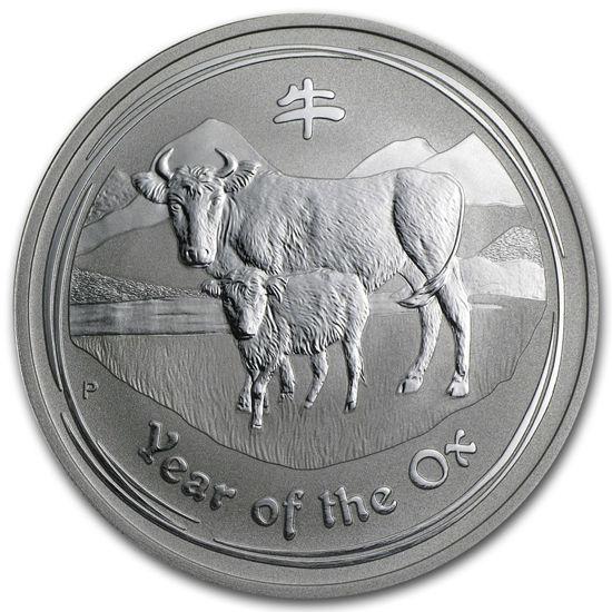 "Picture of Серебряная монета ""Год Быка"", 1 доллар. Австралия. 31,1 грамм"