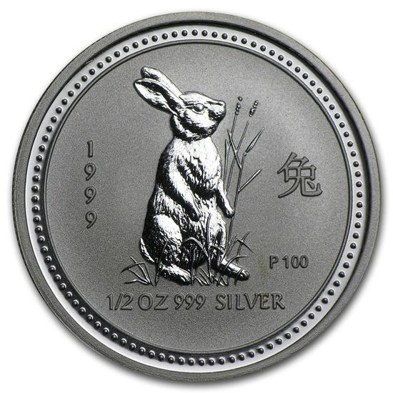 "Picture of Срібна монета ""Рік Кролика"" Lunar 1 Series, 50 центів"
