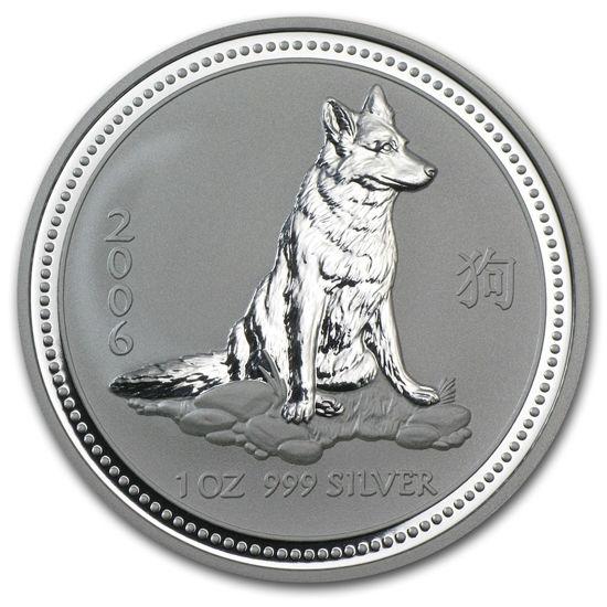 "Picture of Серебряная монета ""Год Собаки"" Lunar 1 Series, 1 доллар. Австралия. 31,1 грамм"