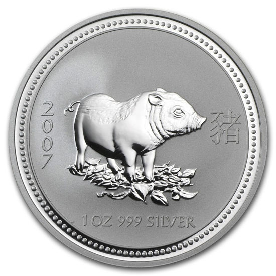 "Picture of Серебряная монета ""Год Свиньи"" Lunar 1 Series, 1 доллар. Австралия. 31,1 грамм"
