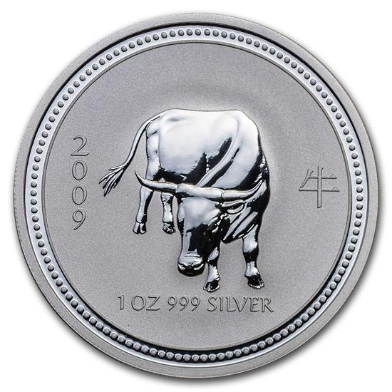 "Picture of Серебряная монета ""Год Быка"" Lunar 1 Series, 1 доллар. Австралия. 31,1 грамм"