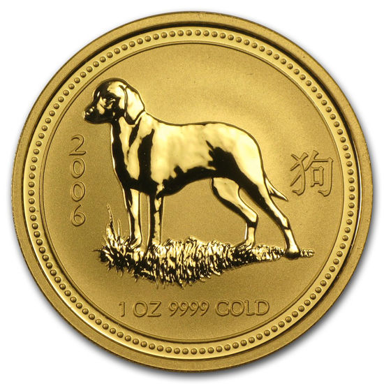 "Picture of Золотая монета ""Год Собаки"" Lunar 1 Series, 100 долларов"