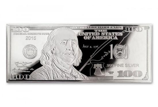 Picture of 100 долларов США серебро