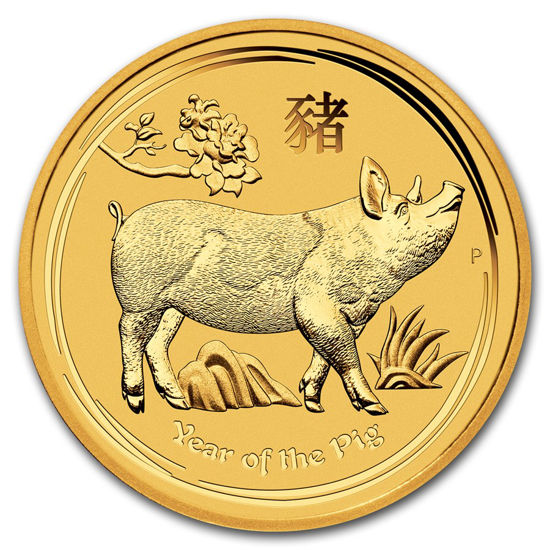 "Picture of Золотая монета ""Год Свиньи"" Lunar II Series, 5 долларов. Австралия. 1,55 грамм"
