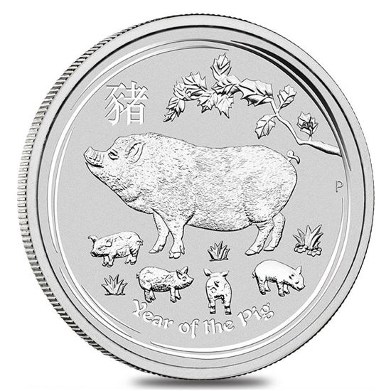 """Picture of Срібна монета """"Рік Свині"""" Lunar II, 31,1 грам, Австралія"""