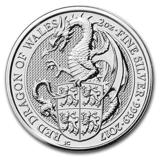 Picture of Серия Звери Королевы Серебро, Красный дракон Уэльса 62.2 грамм, III/X The Red Dragon of Wales, Великобритания 2017