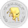 "Picture of Серебряная монета ""Год Быка"" Lunar 1 Series, с позолотой . 1 доллар. Австралия. 31,1 грамм"