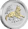 "Picture of Серебро с позолотой ""Год Собаки"" Lunar II, 31,1 грамм, Австралия, 1 доллар"