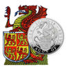 Picture of Серія Звірі Королеви Срібло, Червоний дракон Уельсу 311 грам, III/X The Red Dragon of Wales, Великобританія 2018