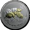"Picture of Серебряная монета ""Год Крысы"", с позолотой .1 доллар. Австралия. 31,1 грамм"