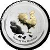 "Picture of Серебряная монета ""Год Петуха"", с позолотой 1 доллар. Австралия. 31,1 грамм"