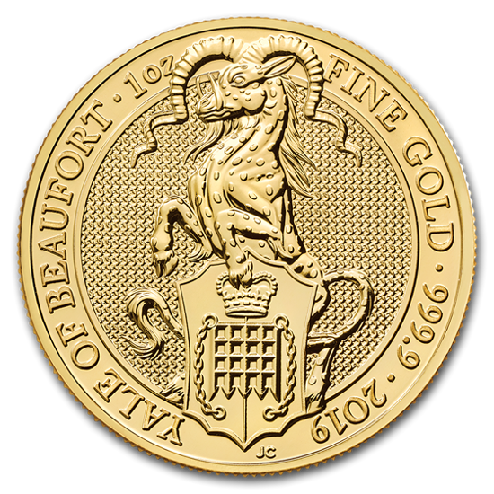 Picture of The Queen's Beasts 2019 VII/X The Yale 1 oz  Звери королевы 2019 Звери Йель