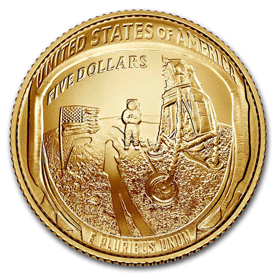 Picture of 2019 Apollo 11 50th Anniversary $5 Gold