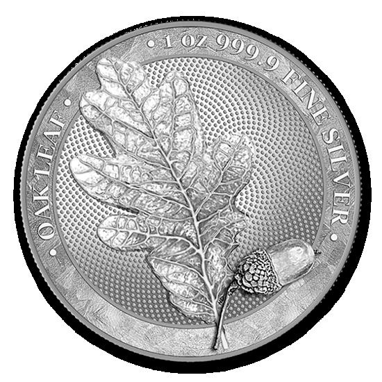 Picture of Срібний Round - Дубовий лист, 31,1 грам 2019