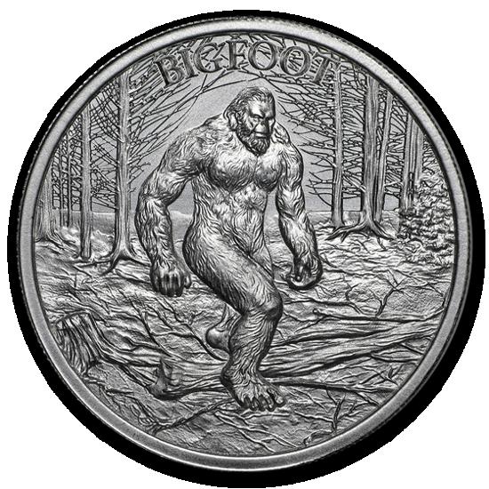 """Picture of Срібний раунд """"Снігова людина - Big Foot"""" серія криптозоологія 31.1 грам"""