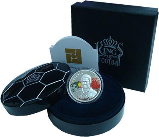 "Picture of Серебряная монета из серии Короли Футбола  "" Эузебиу"""