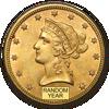 Picture of Золото з зображенням Свободи 10 $ Eagles (Liberty 1838 - 1907)