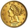 Picture of Золото з зображенням Свободи 5 $ HALF EAGLES (LIBERTY 1839 - 1908)