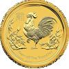 """Picture of Золота монета """"Рік Півня"""" 3.11 грам"""