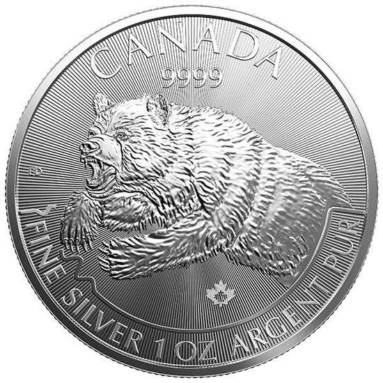 "Picture of Медведь гризли - серия ""Дикая природа"" 31.1 грамм,  Канада 2019г."