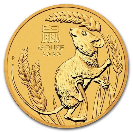 "Picture of Золотая монета Австралии ""Lunar III - Год Крысы"", 15.55 грамм, 2020 г."