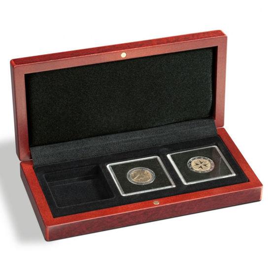 Picture of Футляр дерев'яний для 2 монети в капсулі Quadrum. Leuchtturm