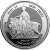 Picture of Срібна монета «Уна і Лев», Una & Lion 31,1 грам,  2019