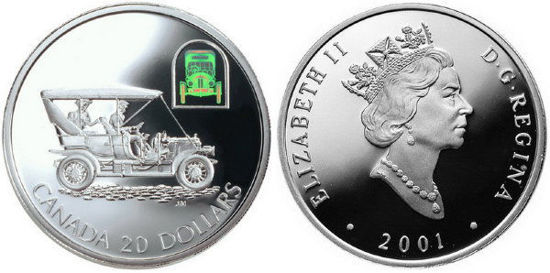 Picture of Срібна монета Автомобіль Russell Model L  Канада 20$