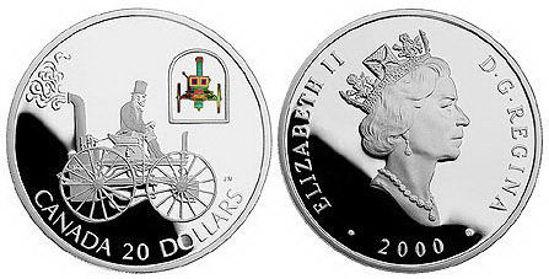 Picture of Серебряная монета Автомобиль H.S. Taylor Steam Buggy Канада 20$