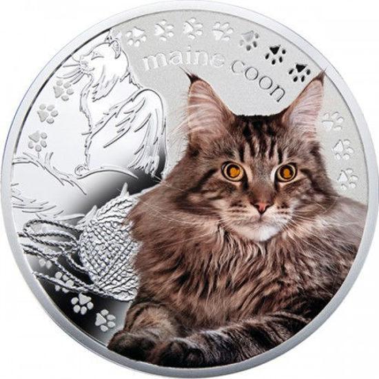 """Picture of Срібна монета """"Мейн - кун"""" серія Кращі друзі людини - кішки"""
