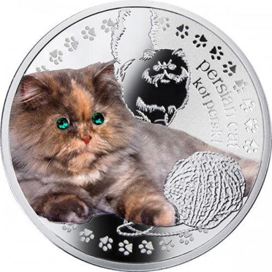 """Picture of Срібна монета """"Перська кішка"""" серія Кращі друзі людини - кішки"""