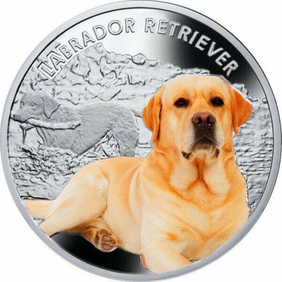 """Picture of Срібна монета """"Лабрадор ретрівер"""" серія """"Кращі друзі людини - собаки"""" 17,5 грам"""