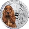"""Picture of Срібна монета """"Кокер спаніель"""" серія """"Кращі друзі людини - собаки"""" 17,5 грам"""