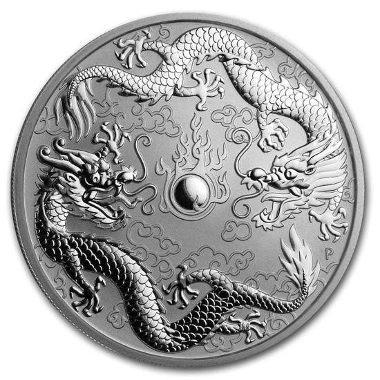 """Picture of Срібний """"Подвійний дракон"""" 31,1 грам, Австралія 2019"""