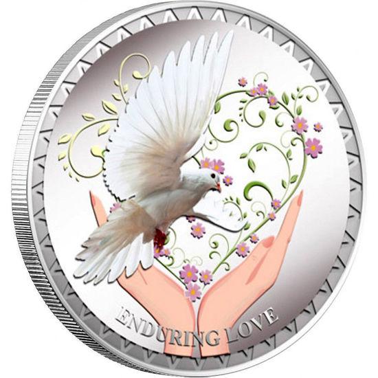 "Picture of  Срібна монета ""Незламна любов"" Токелау"