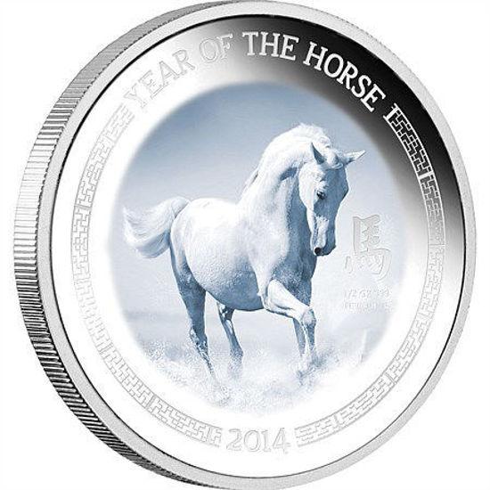 """Picture of Серебряная монета """"Год лошади"""" Лунар 1/2 унции"""