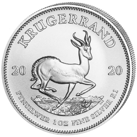 Picture of Серебряная монета Крюгерранд 31.1 грамм, 2020 г.