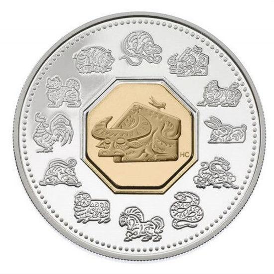 """Picture of Срібна монета """"Східний календар - Рік Бика"""" 15 доларів Канада"""