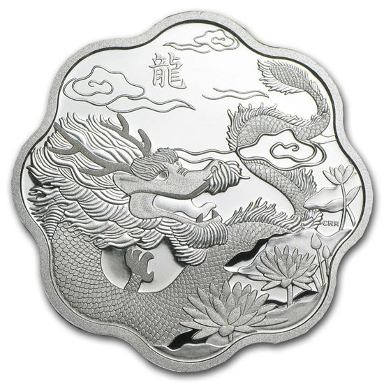 "Picture of Серебряная монета ""Лунный лотос - Год Дракона"" 15 долларов Канада"