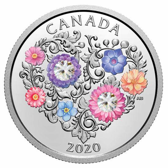 "Picture of Серебряная монета ""Праздник любви"" 2020 Канада"