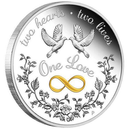 """Picture of Срібна монета """"Одне кохання"""" 1 унція"""