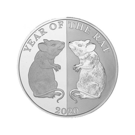 """Picture of Серебряная монета """" Год крысы """" 2020 1 унция"""