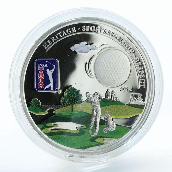 """Picture of Срібна монета """"PGA TOUR - Гольф  """"  2012"""